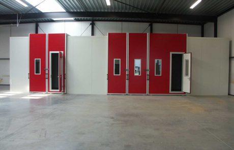 cabine met speciale hoekdeur voor kraanbelading
