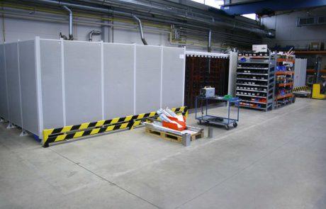 Geluid en laslichtwerend werkplaatsafscherming